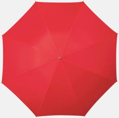Röd (PMS 1797C) Klassiska paraplyer med reklamtryck