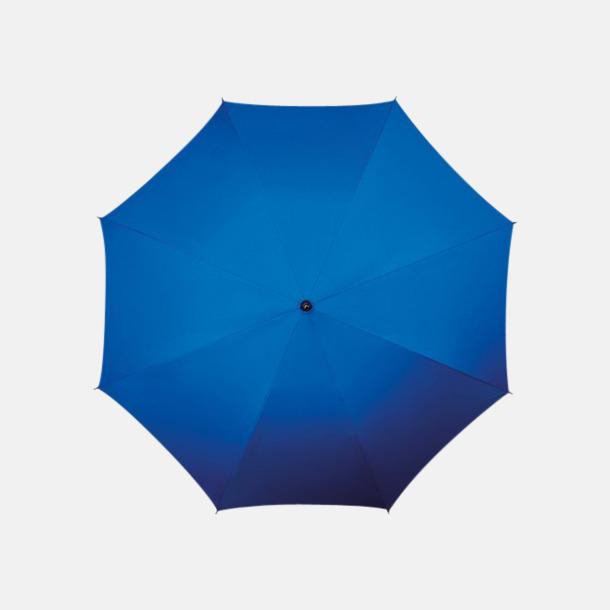 Blå (PMS 293C) Klassiska paraplyer med reklamtryck