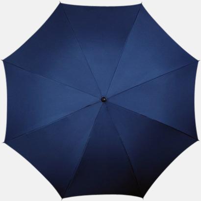 Marinblå (PMS 296C) Klassiska paraplyer med reklamtryck