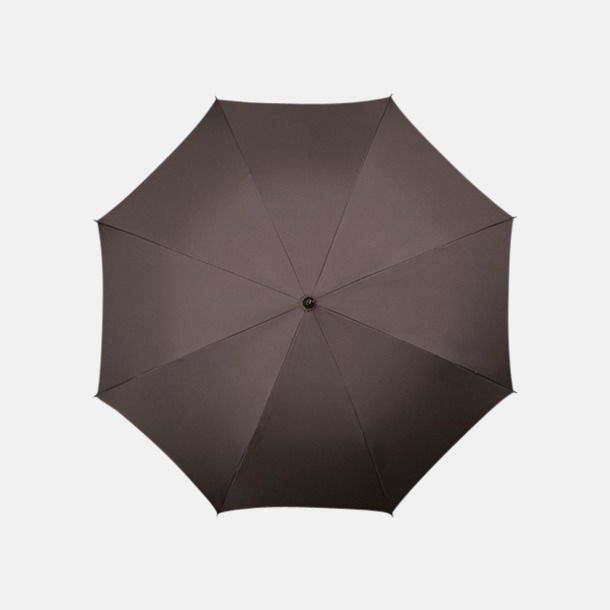 Grå/Brun: 438C Klassiska paraplyer med reklamtryck