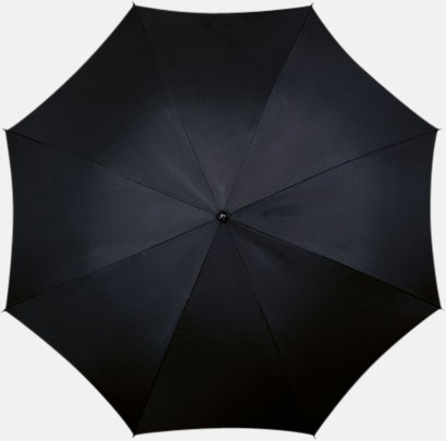 Svart Klassiska paraplyer med reklamtryck