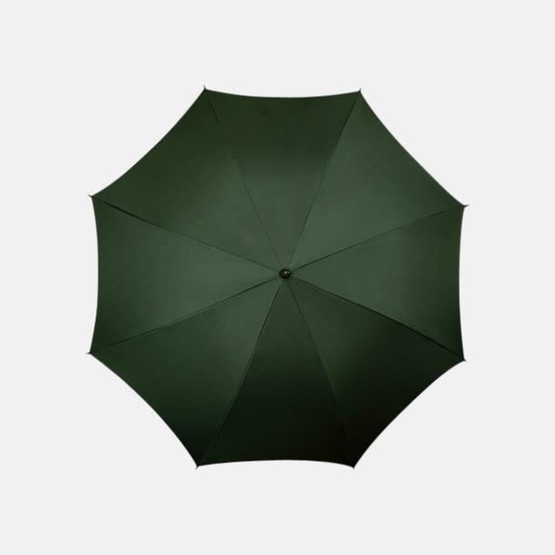 Mörkgrön (PMS 5535C) Klassiska paraplyer med reklamtryck