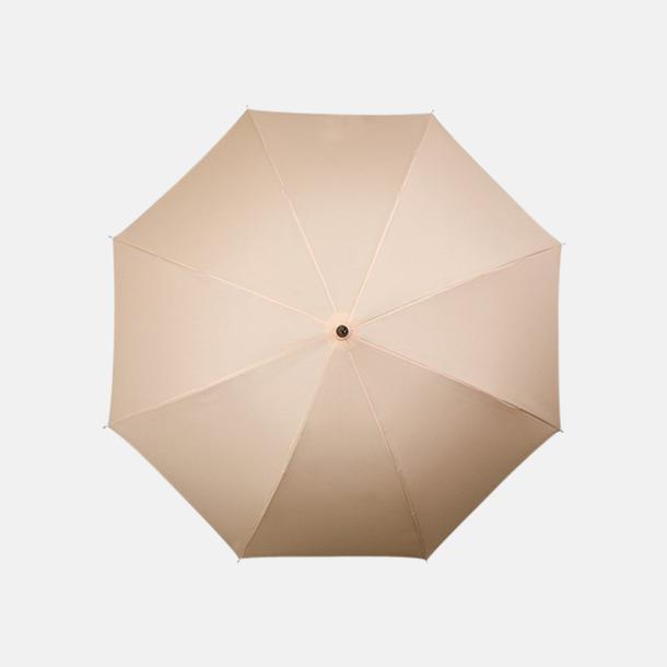 Beige (PMS 466C) Klassiska paraplyer med reklamtryck