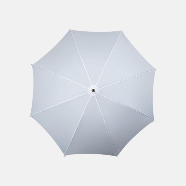 Vit Klassiska paraplyer med reklamtryck