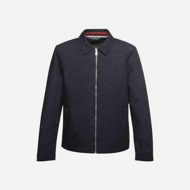 Marinblå Stilrena, moderna jackor med reklamtryck