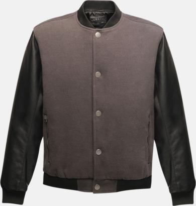 Grå / Svart Moderna jackor med reklamtryck