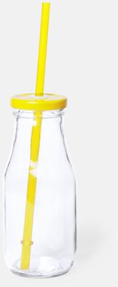 Gul Läskinspirerade vattenflaskor med sugrör - med reklamtryck
