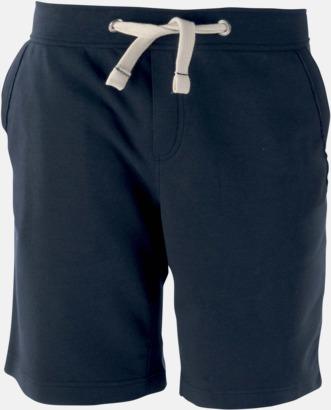Marinblå Unisex shorts med reklamtryck