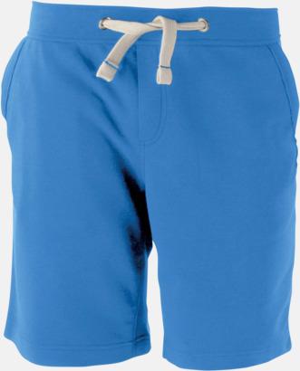 Light Royal Blue Unisex shorts med reklamtryck