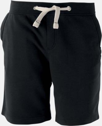 Svart Unisex shorts med reklamtryck
