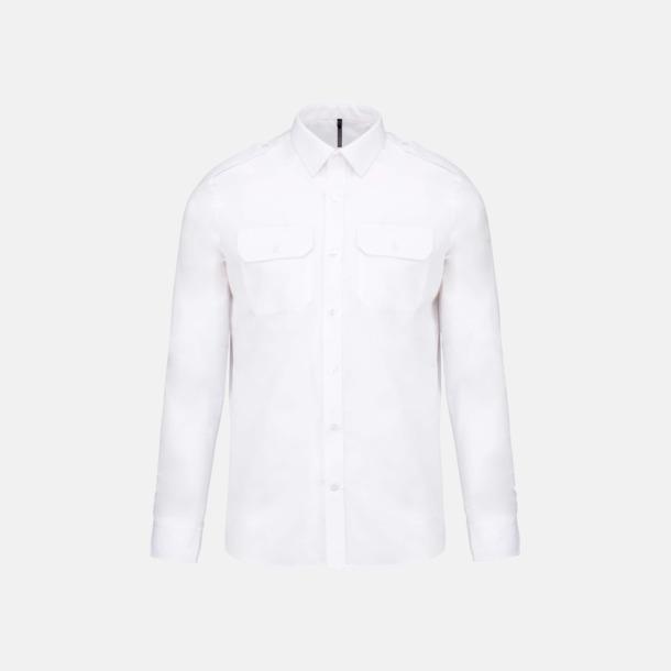 Långärmad (herr) Lång- & kortärmade pilotskjortor med reklamtryck