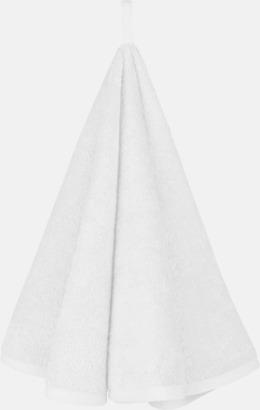 Vit Runda handdukar med reklamlogo