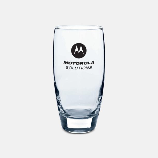 Transparent Fina dricksglas med reklamlogo