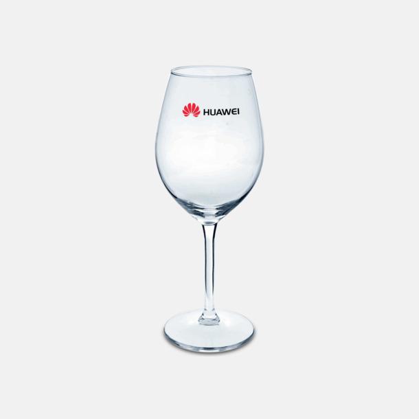 Transparent Vackra vinglas med reklamlogo