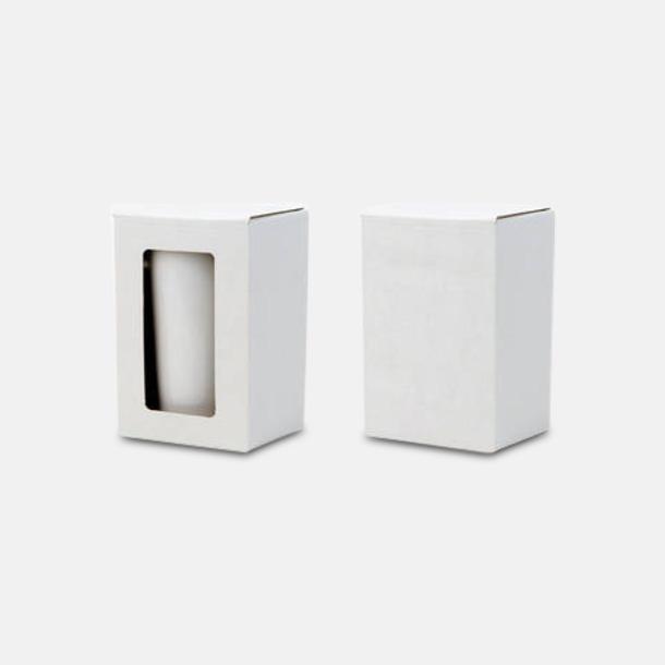 Singlebox (se tillval) Muggar av glas med reklamlogo