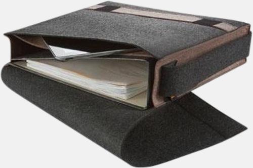 Axelväskor i filt med reklamtryck