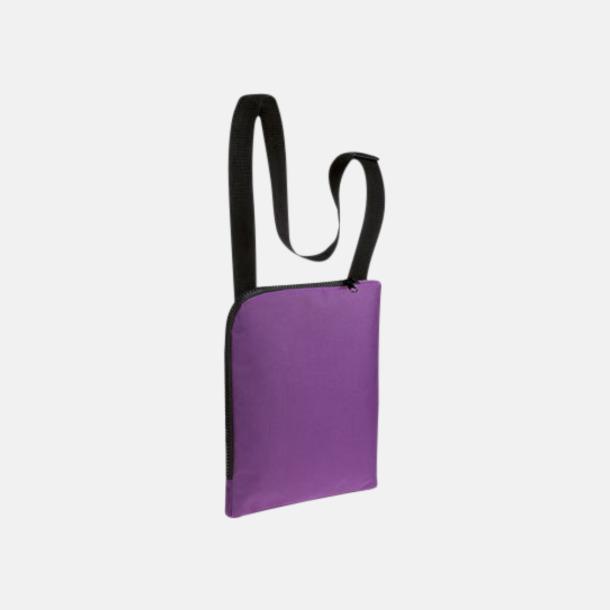 Violet Enkla & billiga dokumentväskor med reklamtryck