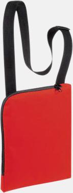 Röd Enkla & billiga dokumentväskor med reklamtryck