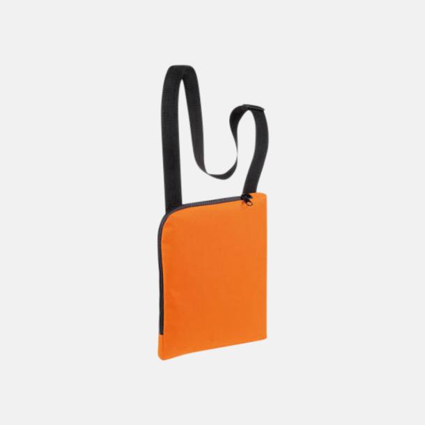 Orange Enkla & billiga dokumentväskor med reklamtryck