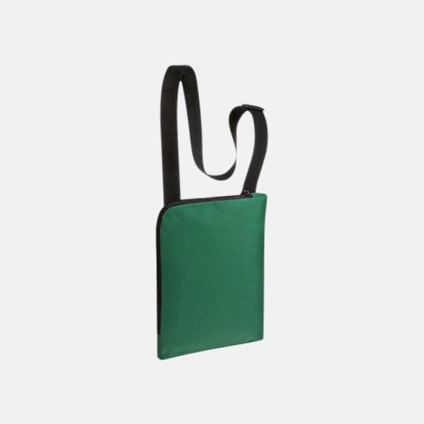 Grön Enkla & billiga dokumentväskor med reklamtryck