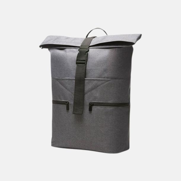 Blue-Grey Melange Trendiga Halfar ryggsäckar med reklamtryck