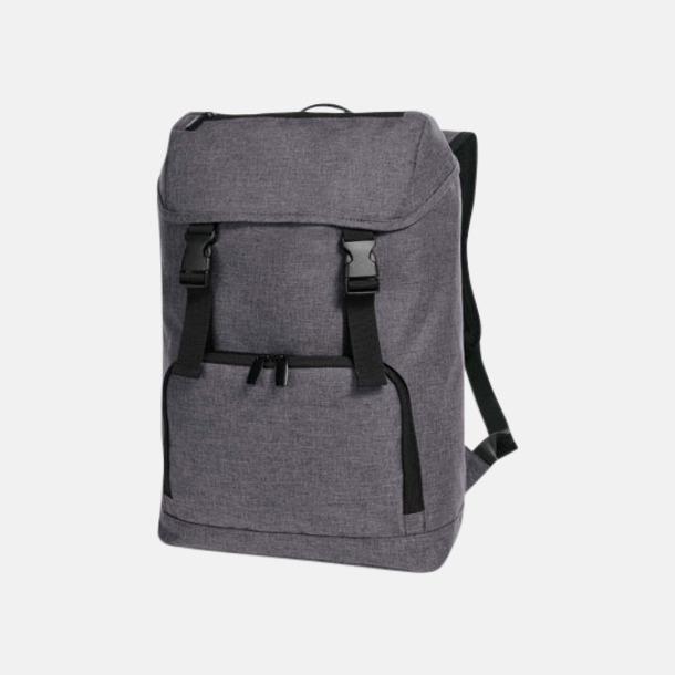 Blue-Grey Melange Halfar ryggsäckar med reklamtryck