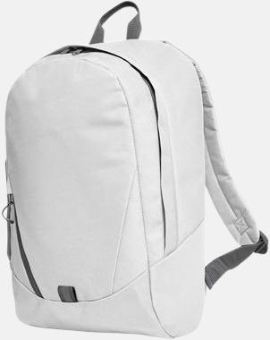 Vit Moderna Halfar ryggsäckar med reklamtryck
