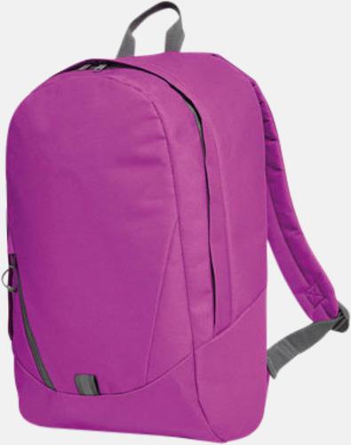 Fuchsia Moderna Halfar ryggsäckar med reklamtryck