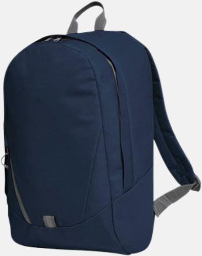 Marinblå Moderna Halfar ryggsäckar med reklamtryck