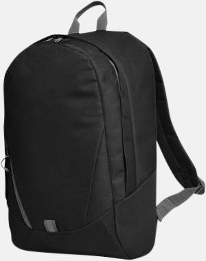 Svart Moderna Halfar ryggsäckar med reklamtryck