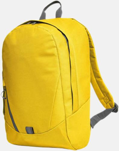 Gul Moderna Halfar ryggsäckar med reklamtryck