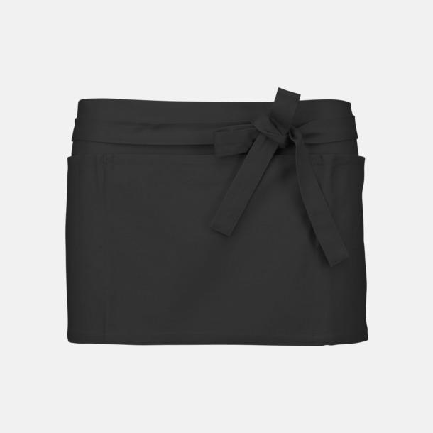 Mörkgrå Korta, billiga förkläden med tryck