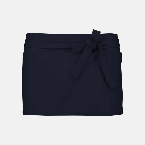 Marinblå Korta, billiga förkläden med tryck
