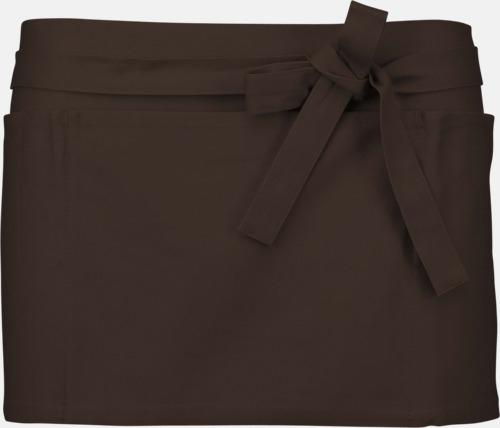 Chocolate Korta, billiga förkläden med tryck