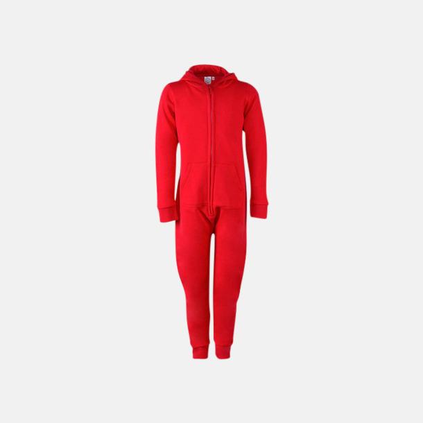Röd (barn) Overaller för barn & vuxna - med reklamtryck