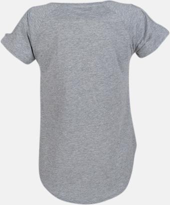 Dam t-shirts med cold shoulder - med reklamtryck