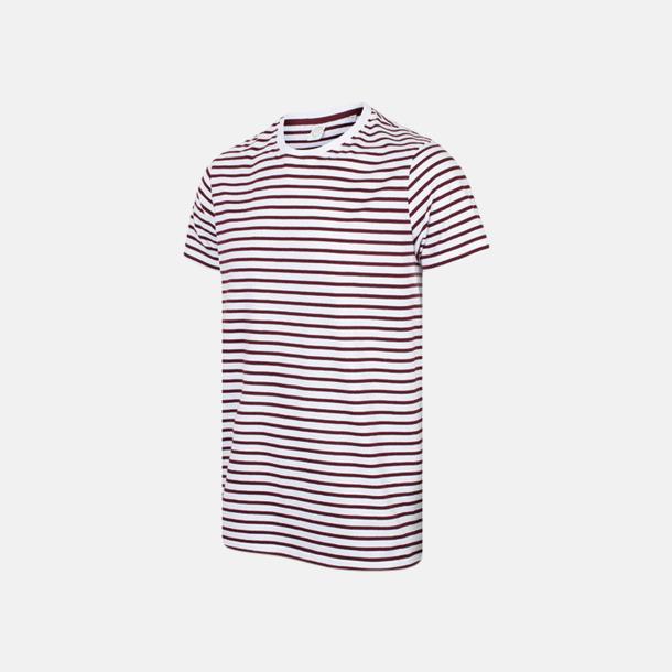 Randiga unisex t-shirts med reklamtryck
