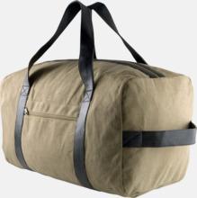 Vintage-look resväskor med reklamtryck