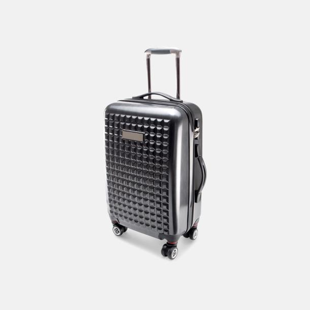 Anthracite Extra stora resväskor med reklamtryck