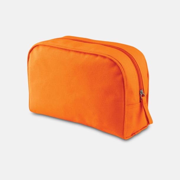 Orange Vattentäta necessärer med reklamtryck