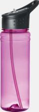 Sugrörförsedd vattenflaska med reklamtryck
