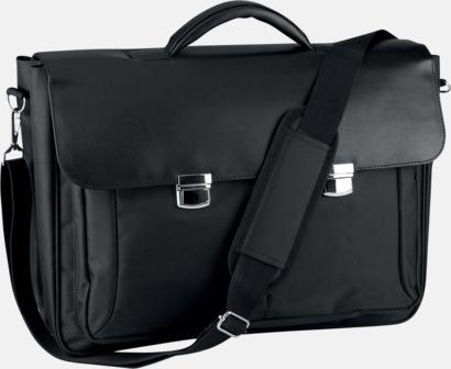 Svart Affärs laptopväskor med reklamtryck