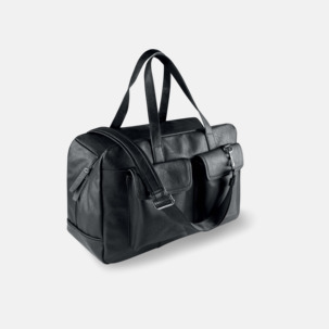 Resväskor i konstläder med reklamlogo