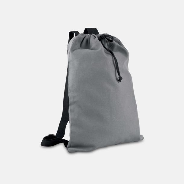 Bomullsryggsäckar med dragsko med reklamtryck