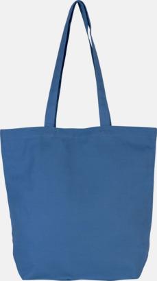 Dusty Blue Stora eko bomullskasar med reklamtryck