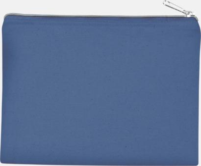 Dusty Blue/Silver (medium) Fodral i 3 storlekar med reklamtryck