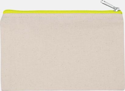 Natur/Floucerande Gul (liten) Fodral i 3 storlekar med reklamtryck