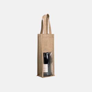 Vinpåse för 1 eller 2 flaskor med reklamtryck