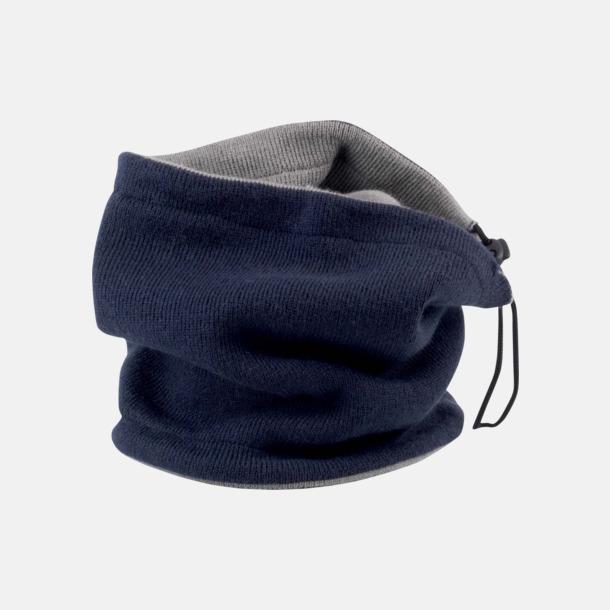 Marinblå / Grå Vändbara halsdukar med reklamtryck