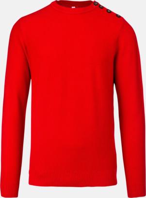Deep Red Tröjor med knäppning på sidan - med reklamtryck